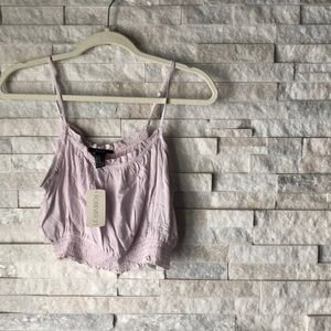 Woven Cropped Tank